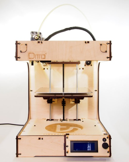 Ditto plus 3d printer assembled